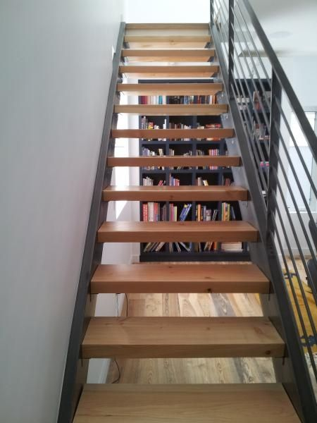 Best Stairs I Modern Steel Stringer Stair Three Inch Douglas 400 x 300