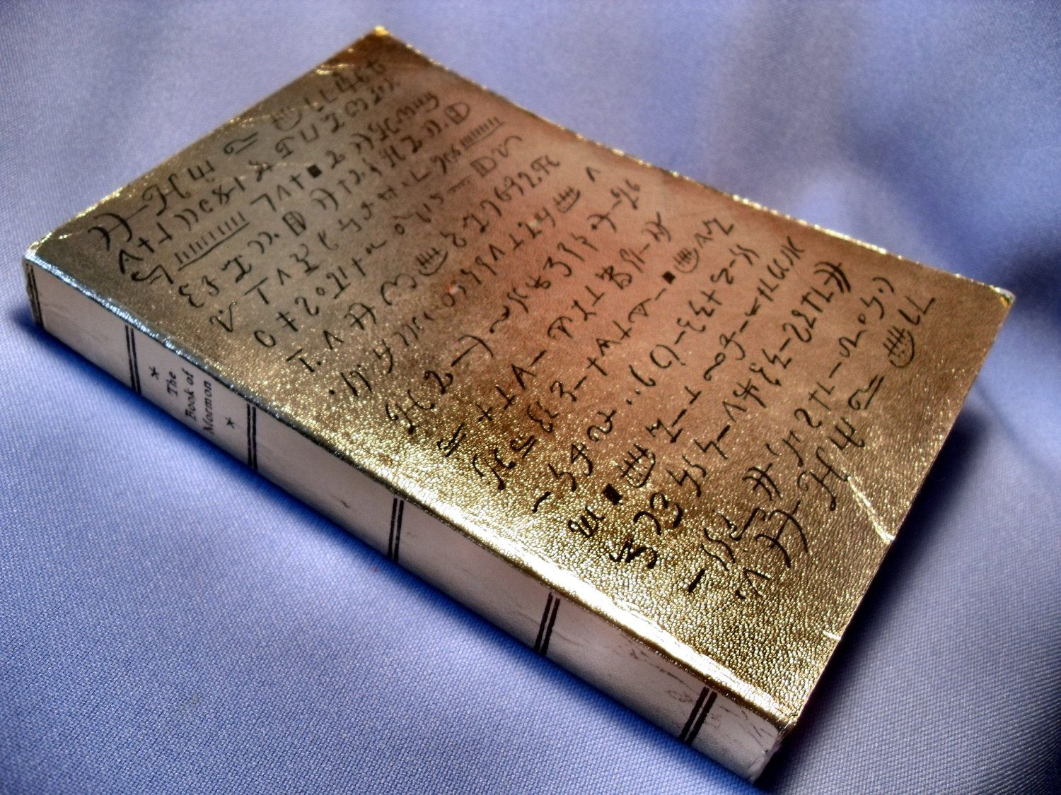 1977 Rare Gold Plates Edition Book Of Mormon Lds I Used To Have One Of These Scriptures Book Of Mormon Scripture Lds Art