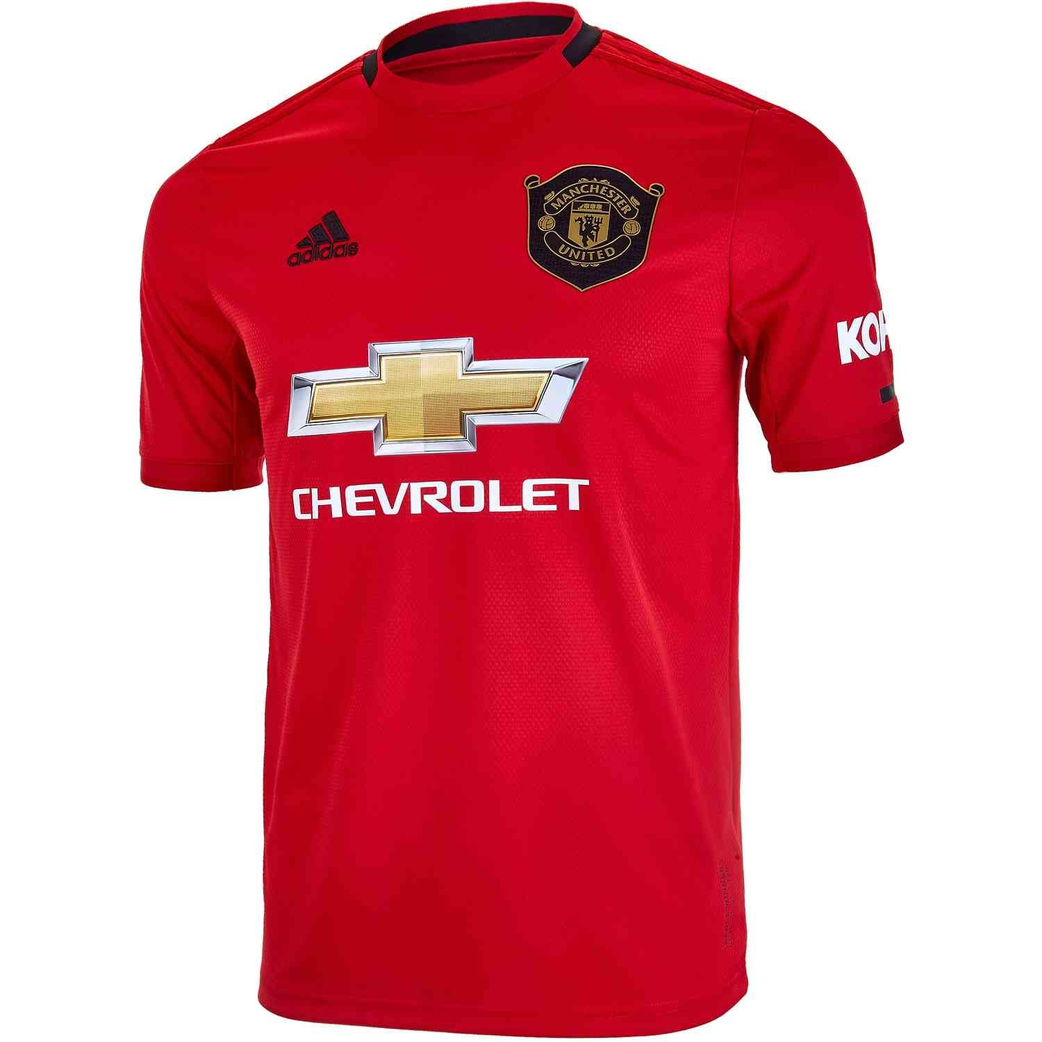 2019 20 Kids Adidas Manchester United Home Jersey Soccerpro Manchester United Jersey Design The Unit