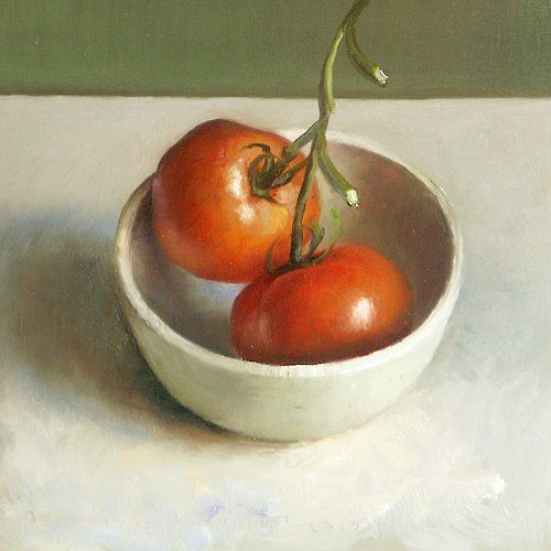 postcard from holland-  still life Bowl of Tomatoes
