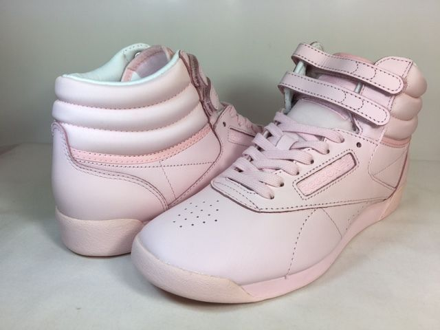 4d7c1227883bc WOMENS REEBOK CLASSICS FREESTYLE HI COLOR BOMB BS7857 Porcelain Pink White