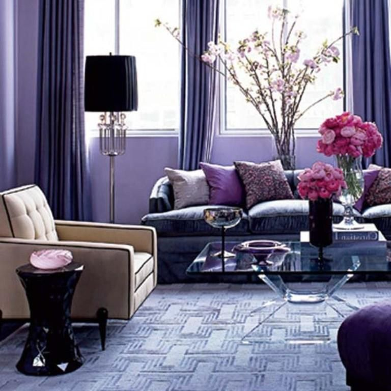 Ultra Violet Home Decor Pantone S Color Of The Year 2018 Purple Living Room White Living Room Decor Purple Living Room Furniture