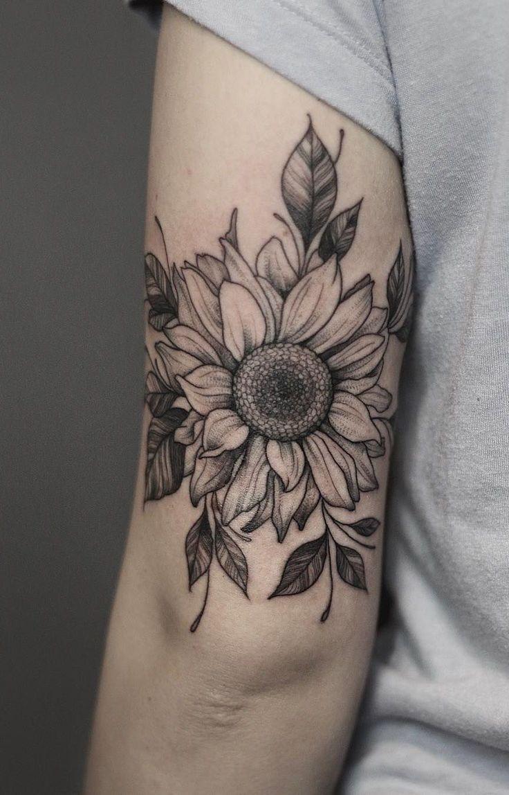 135 Sunflower Tattoo Ideas - [Best Rated Designs in 2020] - Next Luxury