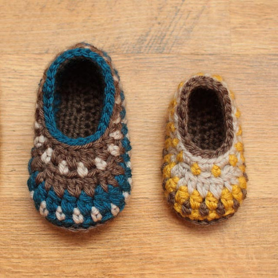 Crochet patrones  botines de Galilea recién nacido a por Mamachee