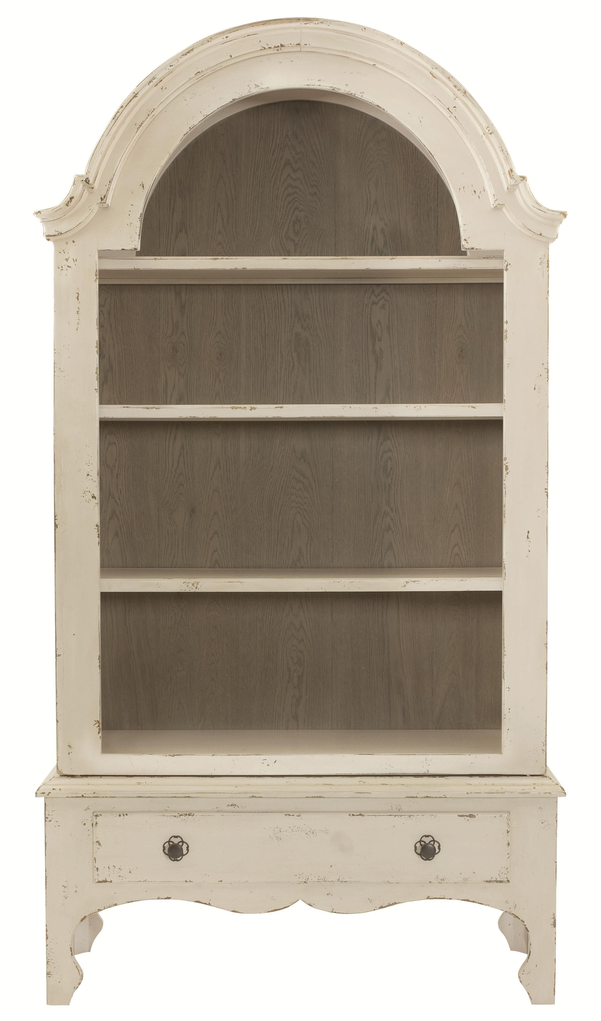 Bernhardt auberge display cabinet with shelves and drawer at