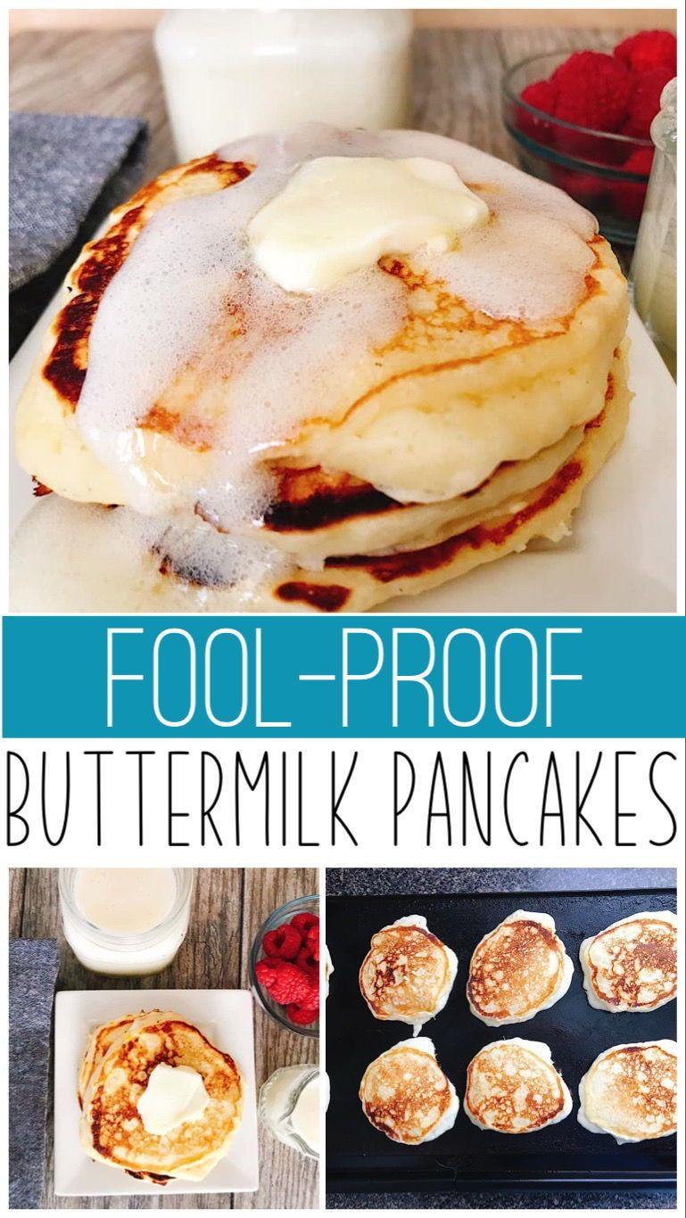 Best Fluffy Buttermilk Pancake Recipe Recipe In 2021 Fluffy Buttermilk Pancake Recipe Baked Dessert Recipes Buttermilk Pancakes