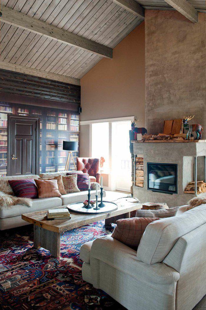 landhausstil wohnzimmer gemütlich schwedischer stil Schweden - wohnzimmer in landhausstil