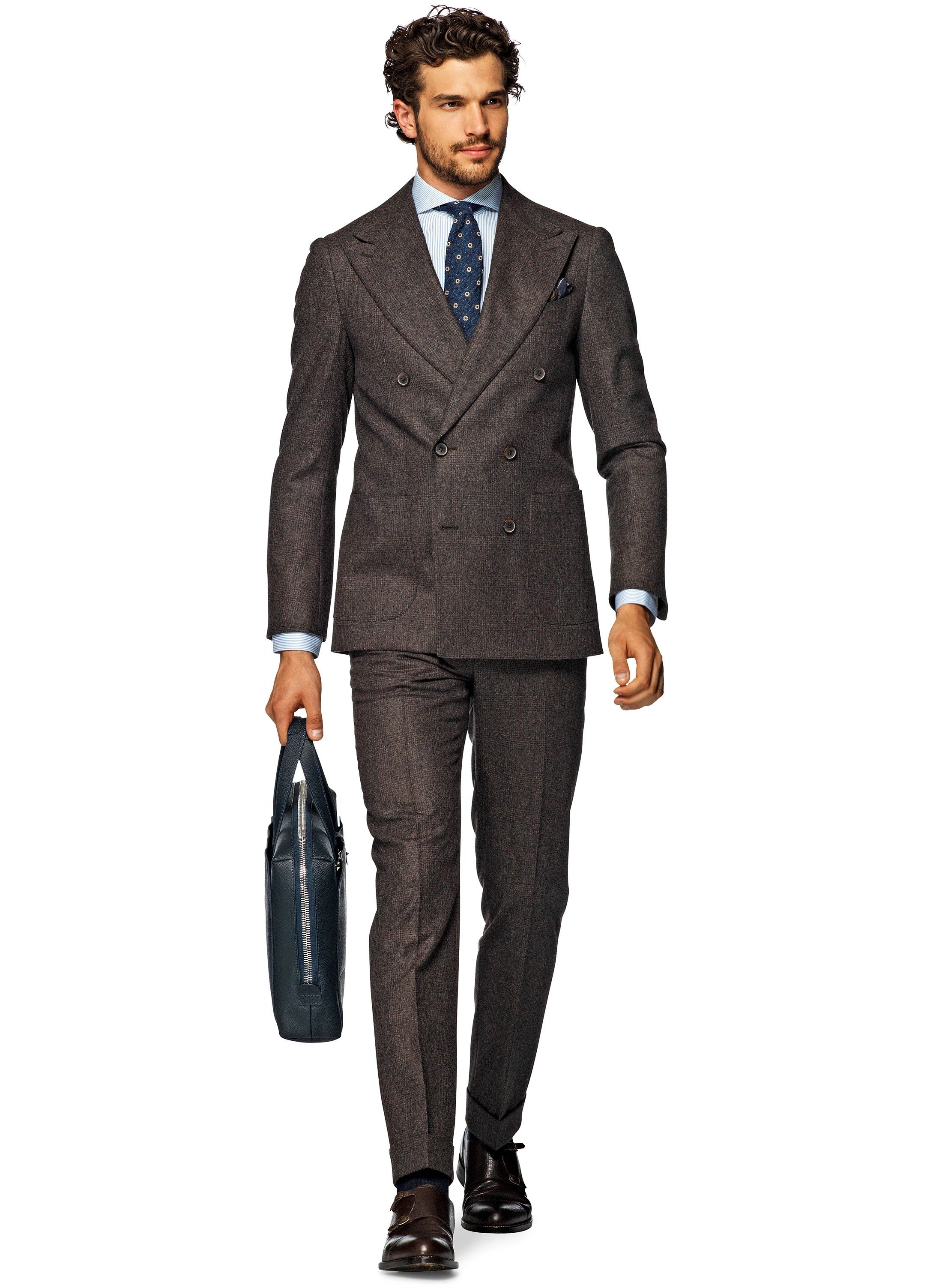Suit Brown Check Madison P3944i | Suitsupply Online Store | Things ...