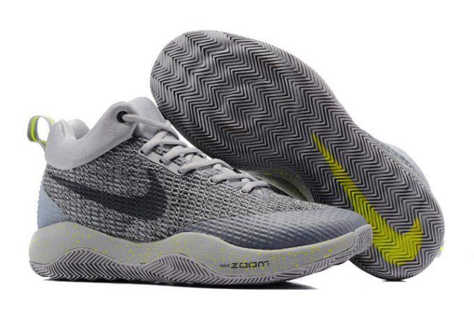 a59c88127952 Nike Hyperrev 2017 Grey Black Green Men s Basketball Shoes-3