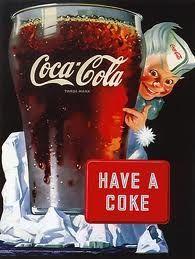 Coca Cola -- Sorry, but he looks creepy.