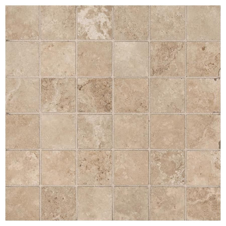 American Olean Grandview Warm Sand Uniform Squares Mosaic Ceramic Floor And Wall Tile Common 12 In X Actual