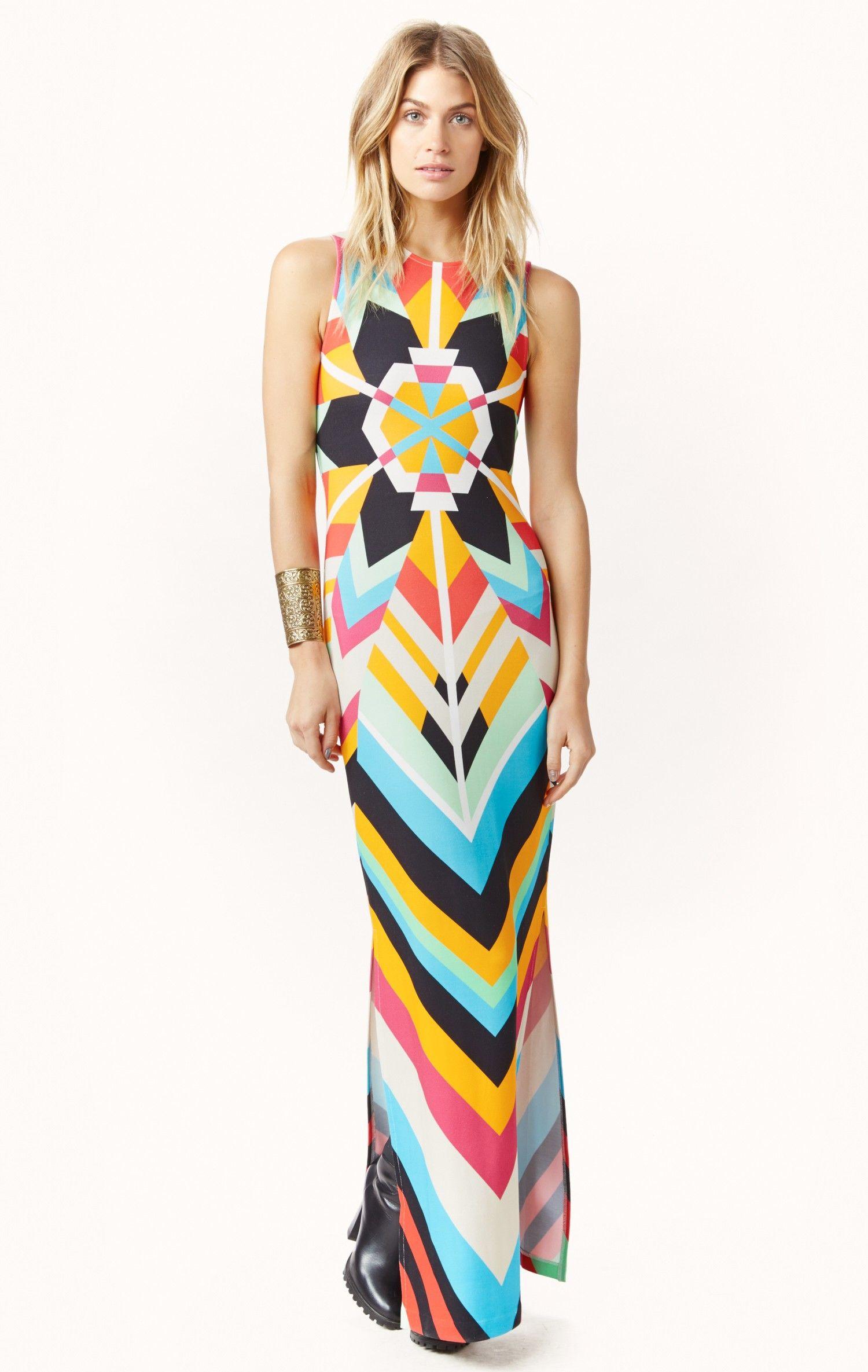 eb118feb7372 ponte maxi dress by MARA HOFFMAN  planetblue