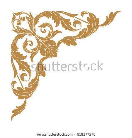 Gold vintage baroque corner ornament retro pattern antique style gold vintage baroque corner ornament retro pattern antique style acanthus decorative design element filigree calligraphy junglespirit Choice Image