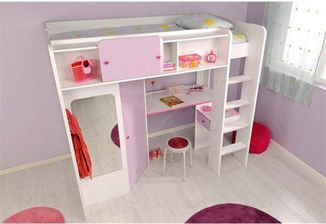 Parisot hoogslaper mademoiselle met bureau bureaus and bedrooms
