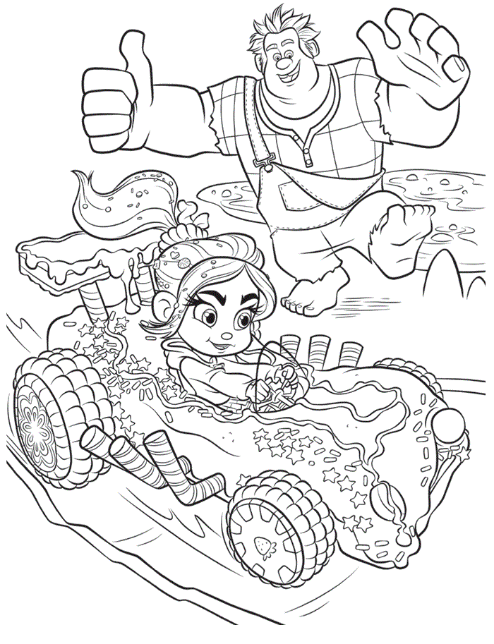 Wreck It Ralph Coloring Pages Best Coloring Pages For Kids Cartoon Coloring Pages Cool Coloring Pages Coloring Pages