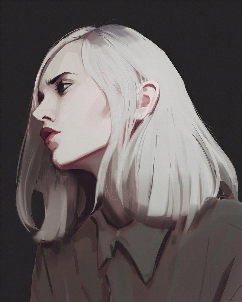 White Hair By Snatti89 Deviantart Com On Deviantart Art Female Art Sketches