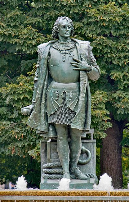 A Christopher Columbus Statue, by Moses Ezekiel in Rome, Italy ...