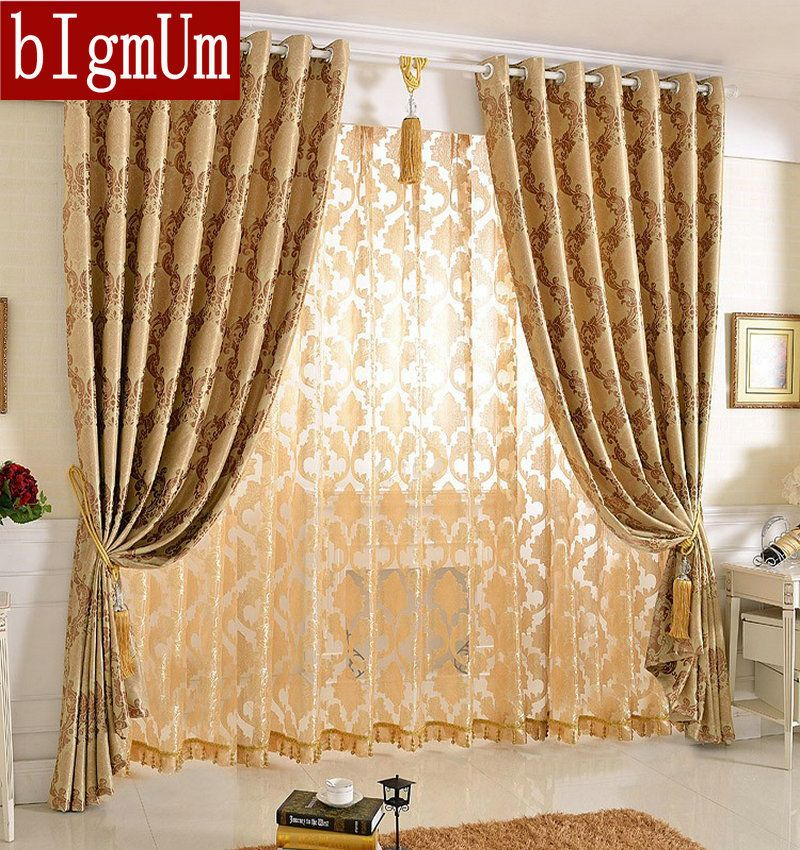 New Arrival Jacquard Floral Curtains For Bedroom Living Room Blackout Nice Pattern European Style Double Sided Affiliate