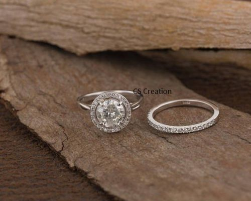 Engagement Rings Responsible Certified 2ct Art Deco Princess Diamond Engagement Ring Stamped 14k White Gold