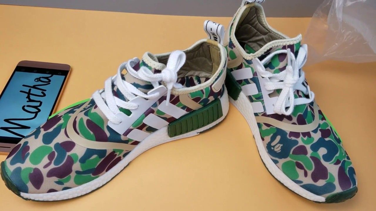 $80 NMD Bape Green Camo Unboxing Review | Martha Sneakers