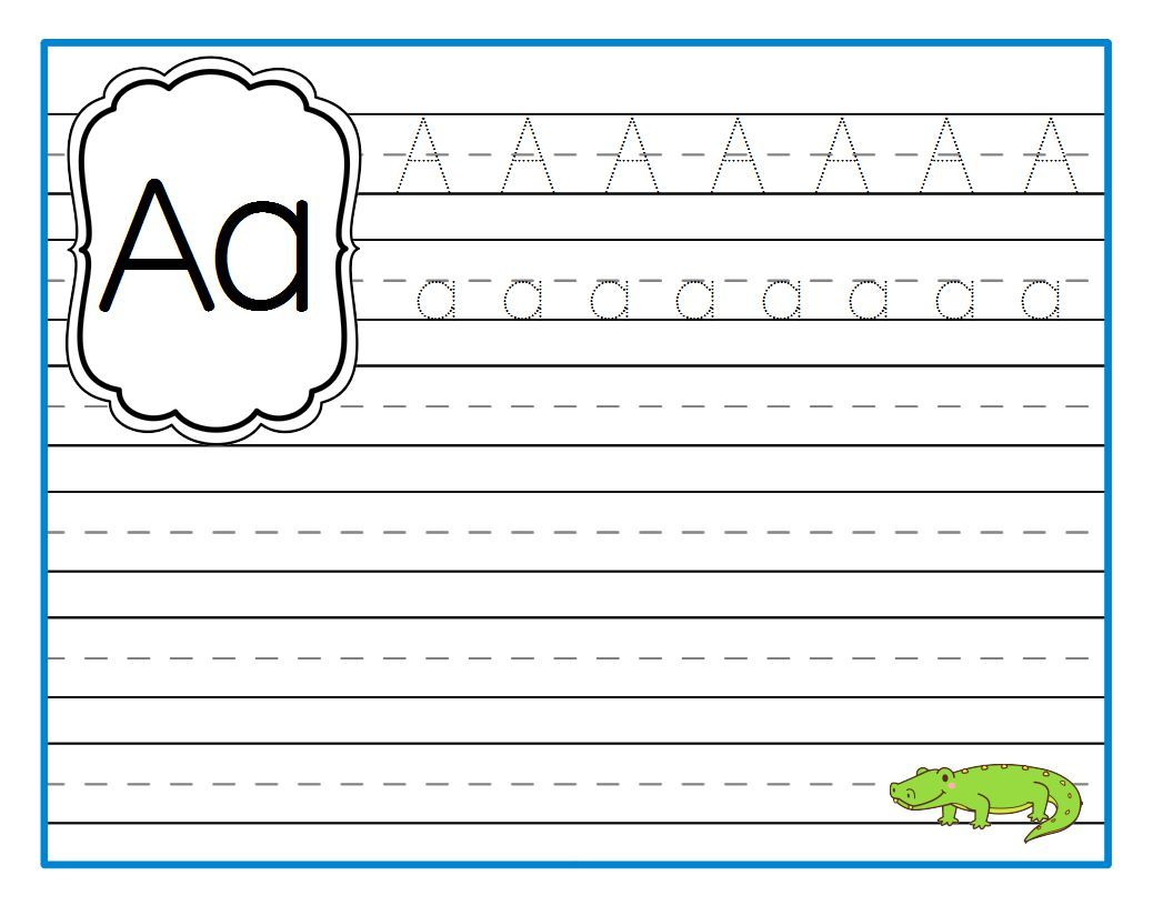 Alphabet Printing Pages In Color And Black And White School