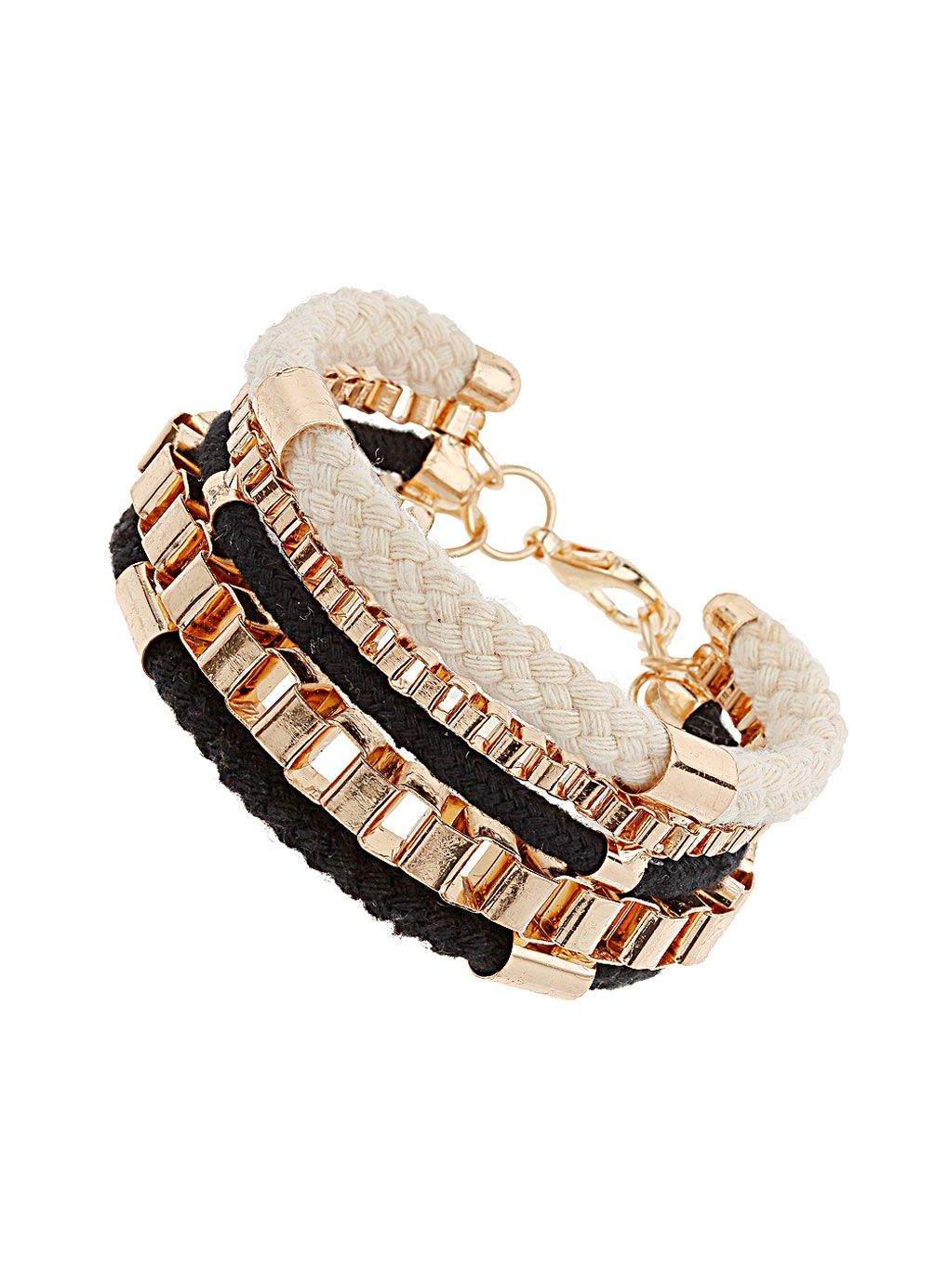 Cord bracelet i love that it is ropecord yet also shiny gold it