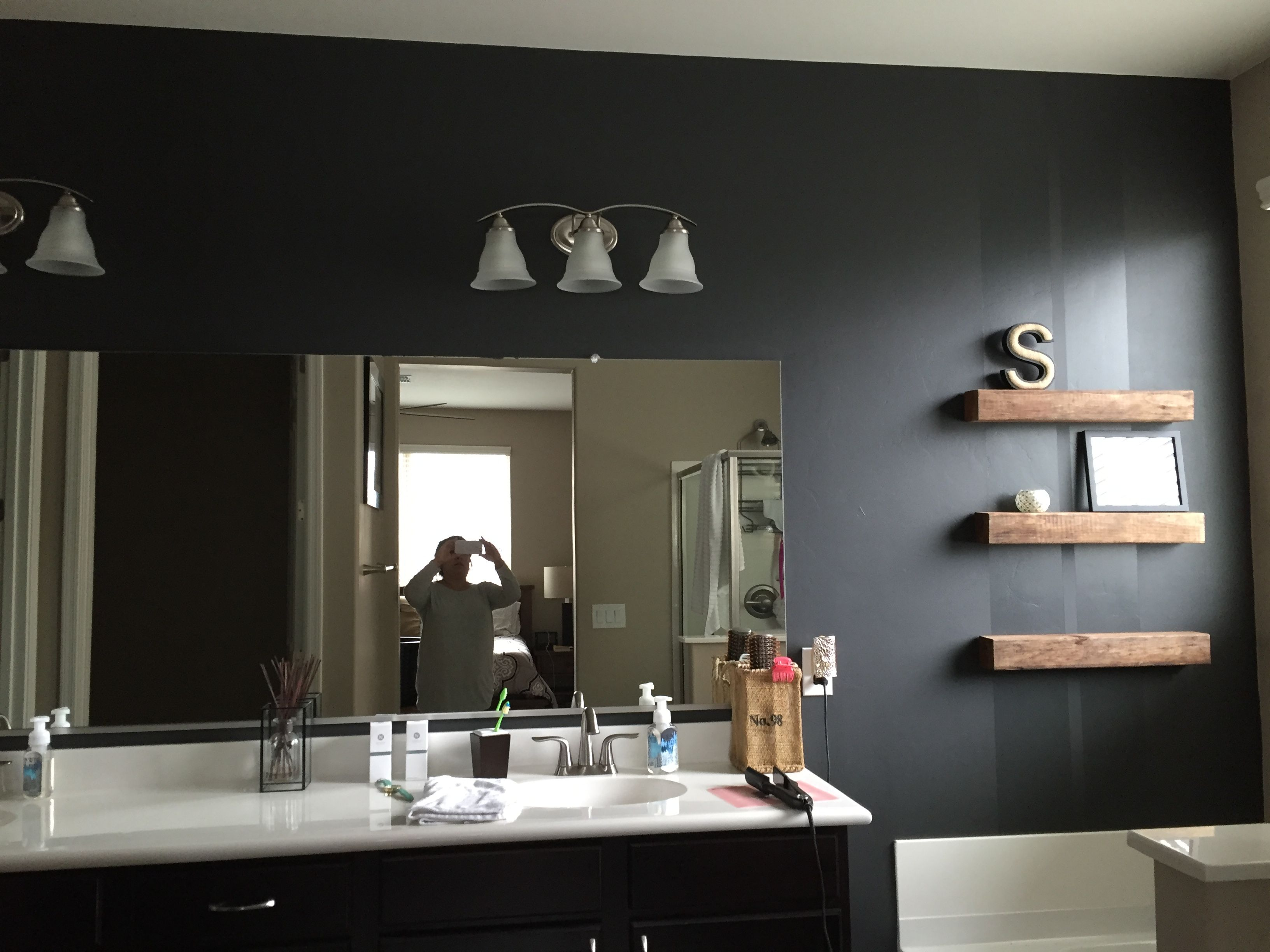 Iron Ore Sherwin Williams Matte With Satin Stripes Home Decor In 2019 Paint Colors For