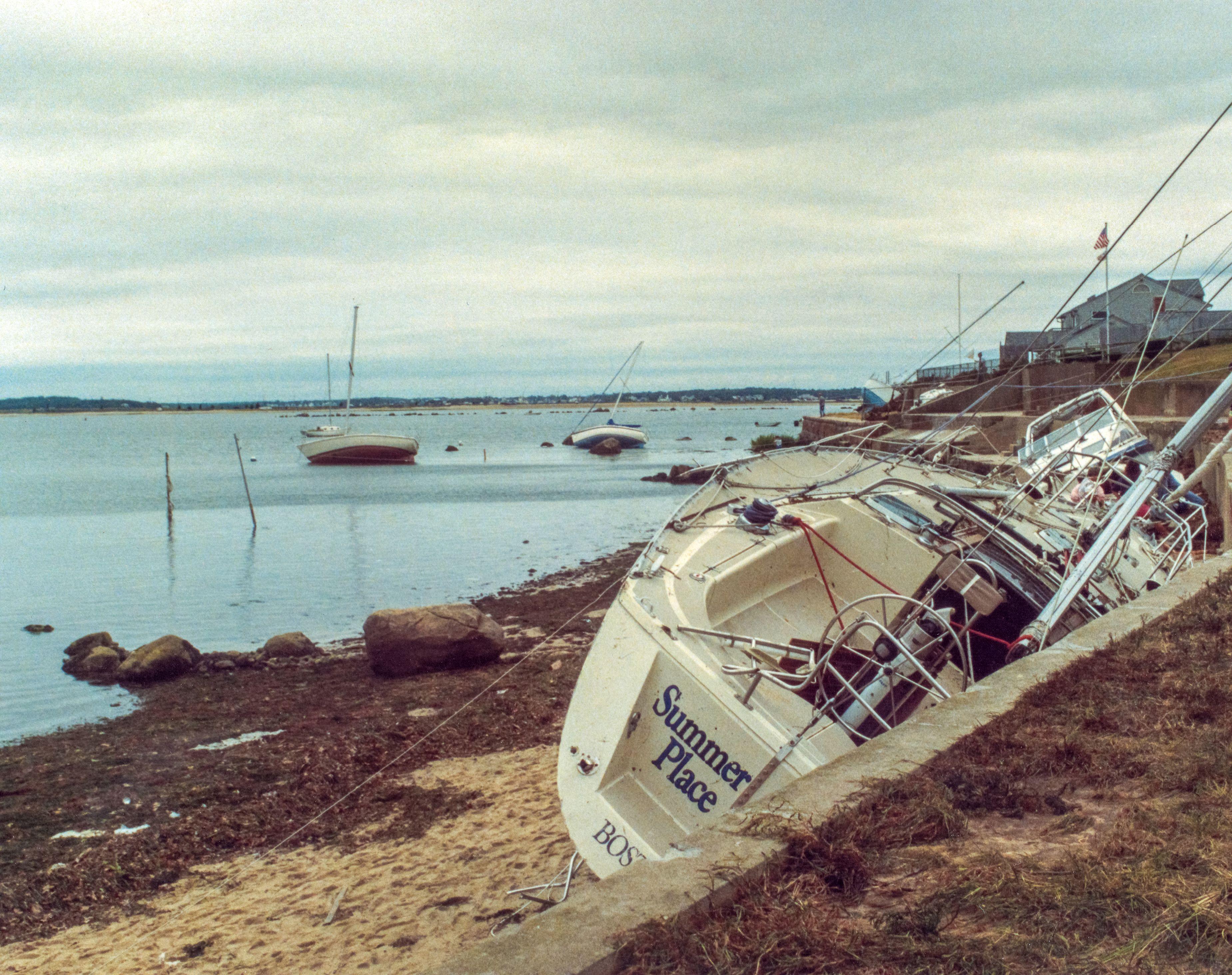 Hurricane Bob Aftermath Monument Beach Cape Cod Massachusetts Monument Cape Cod