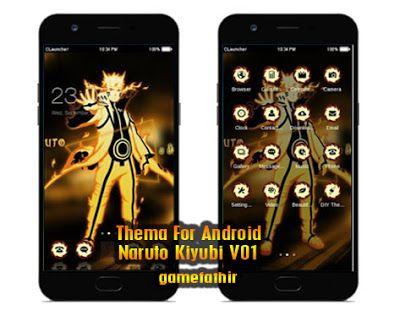 Download Tema Naruto Kiyubi V01 Apk Terbaru Naruto Animasi