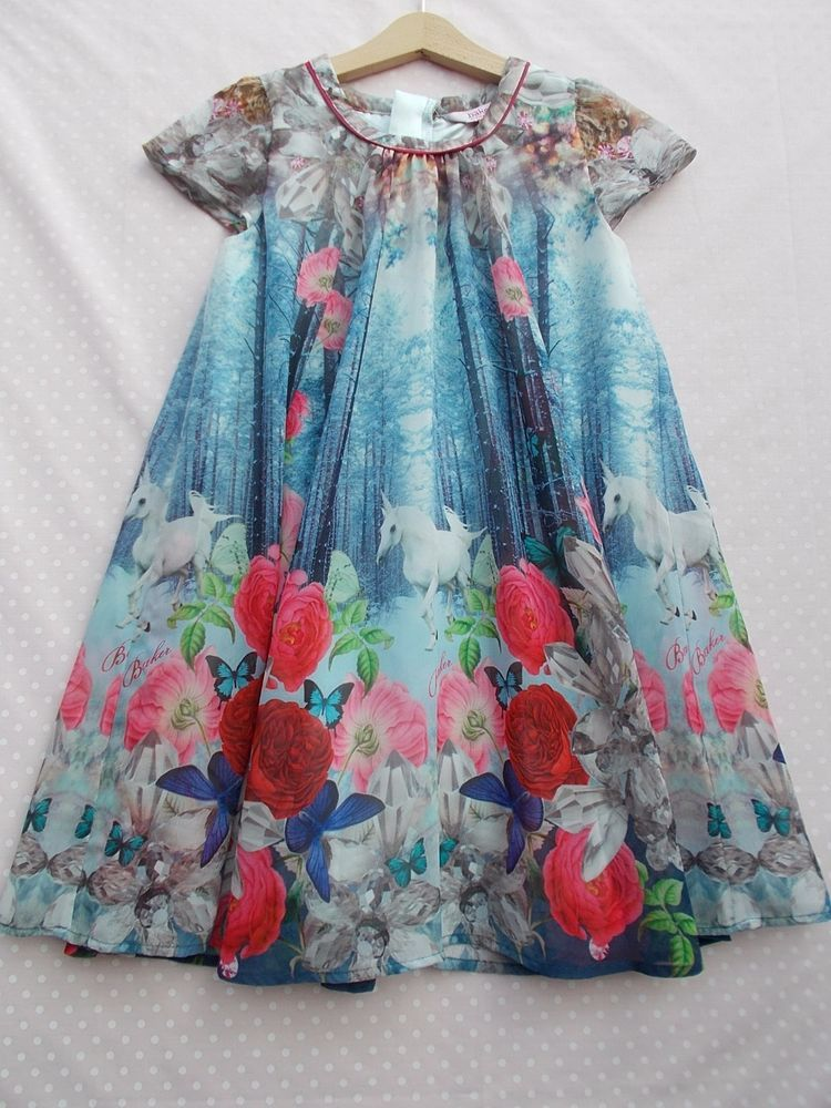 cf6cce99f Girls Ted Baker Party Dress age 9 years winter woodland unicorn ...