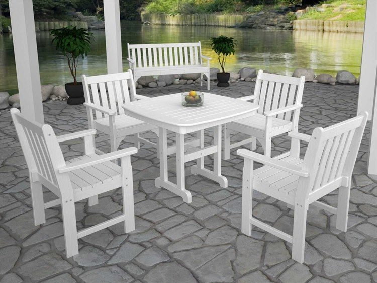 Polywood Vineyard Recycled Plastic Dining Set In 2020 Wood