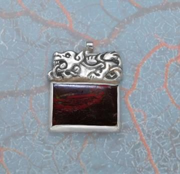 Unique handmade silver pendant - Nordic Sea-monster by ArtWay for $255.00 available now from Zibbet