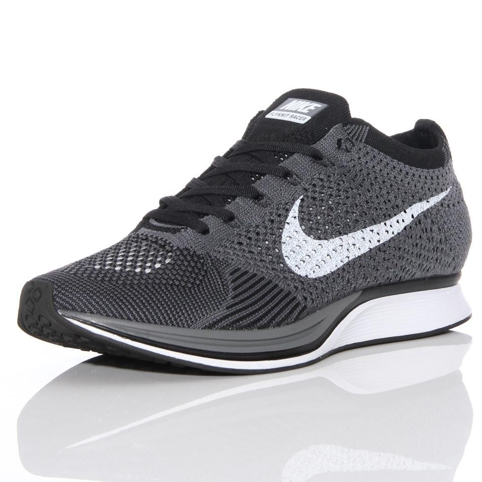 nike free flyknit racer black\/red retro