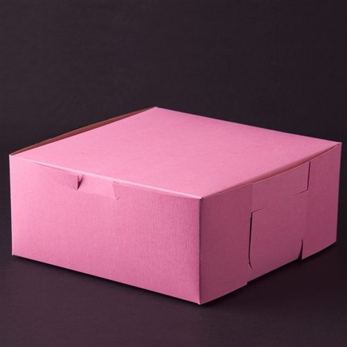 10 X 10 X 4 Pink Bakery Box Case 100 For 39 01 Bakery Cakes Bakery Box Pink Bakery Boxes
