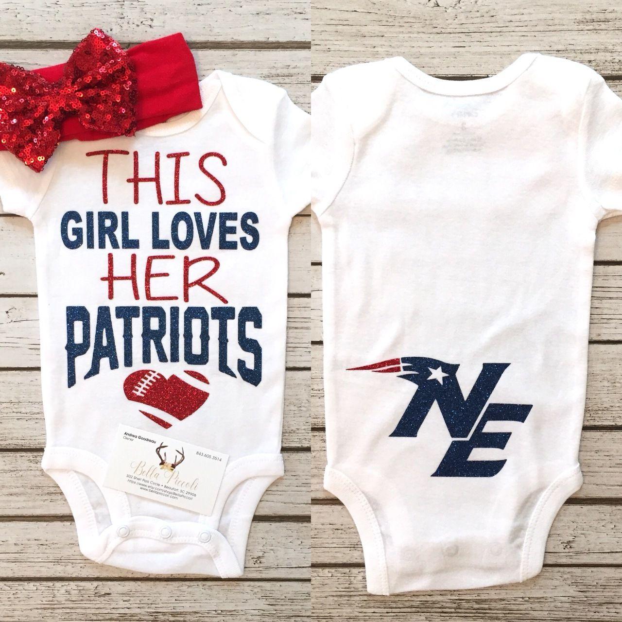 This Girl Loves Her Patriots Bodysuit New England Patriots Bodysuit -  BellaPiccoli b3f8d9c67