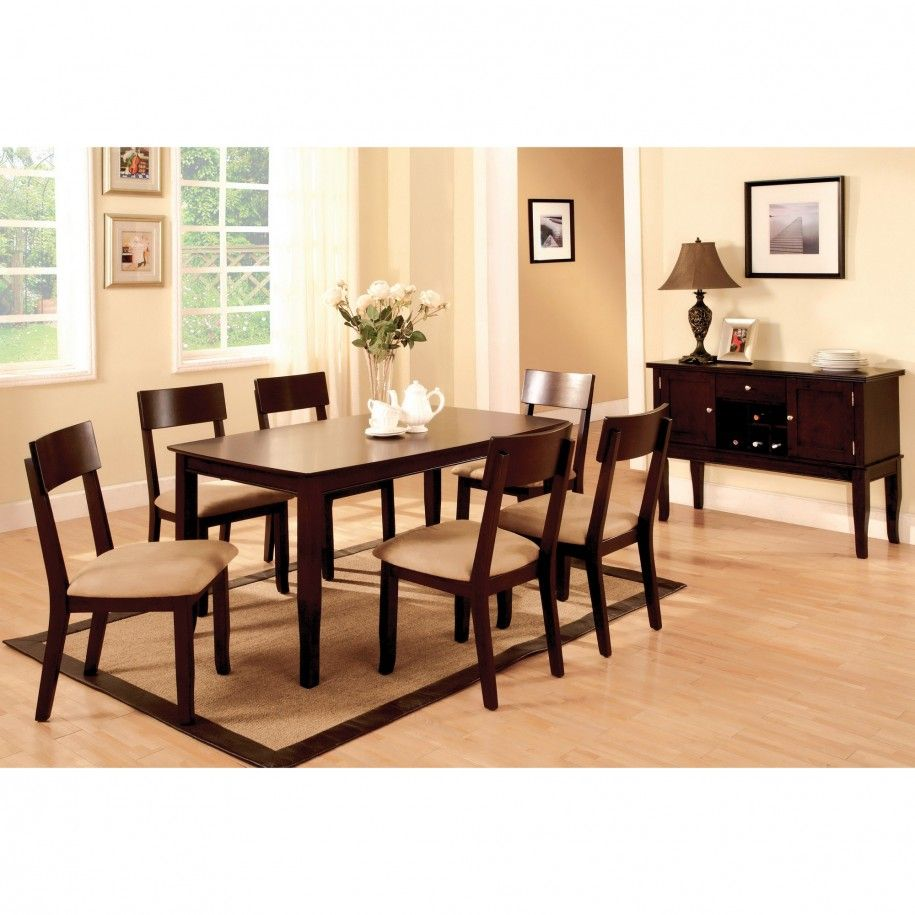Gorgeous Dark Wood Dining Table Design with Magnificent Dark ...