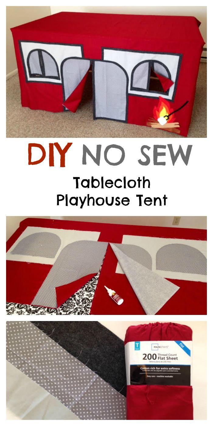 Best no sew camping indoor playhouse for kids sewing pinterest ni os manualidades and - Casitas de tela para ninos toysrus ...