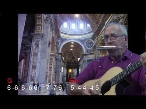 nº 011 Stand by me(Ben E King)tutorial armonica( A ) chords guitar ...