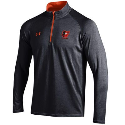 Baltimore Orioles Under Armour Charged Quarter-Zip Pullover Jacket - Black/Orange