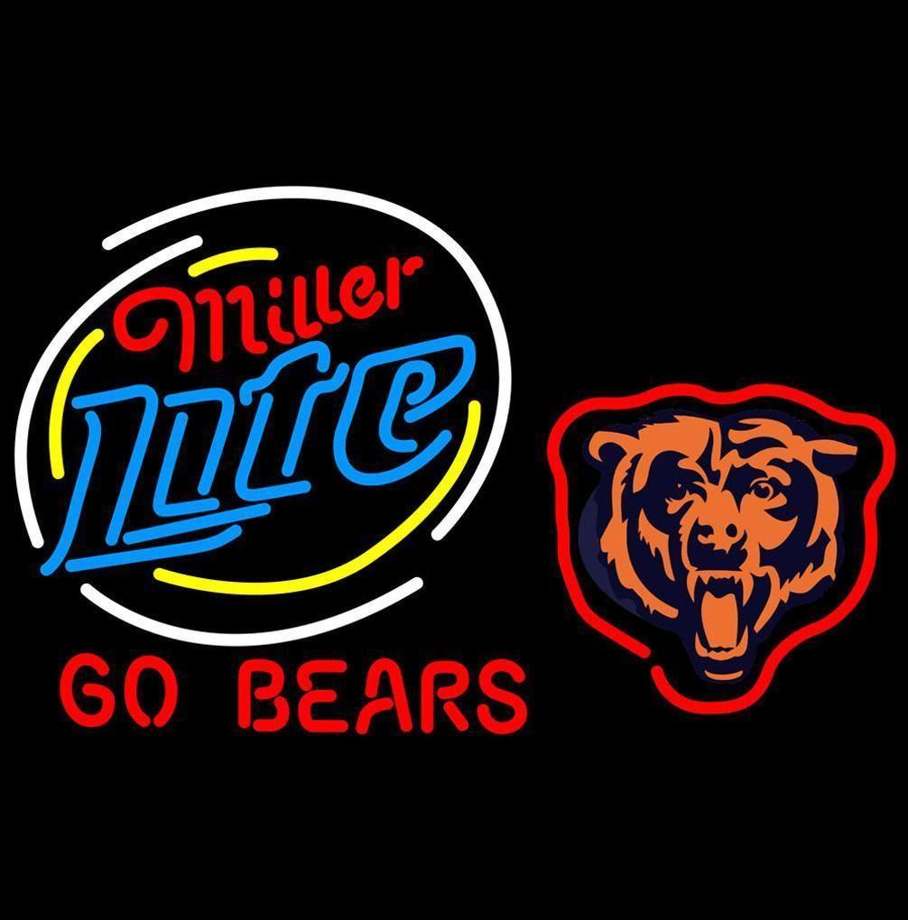 Miller Lite Chicago Bears Neon Beer Signs Giant | Neon