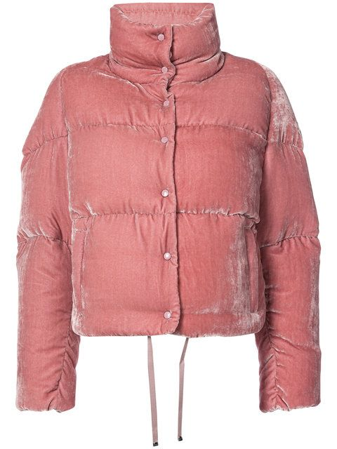 f1fa78652 Shop Moncler cropped velvet puffer jacket. puff put a pufferfish on ...
