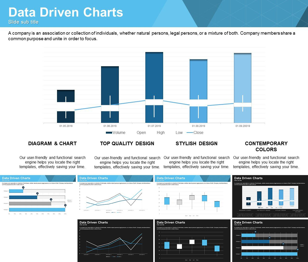 Free Data Driven Powerpoint Charts Powerpoint Charts Infographic Powerpoint Powerpoint Chart Templates
