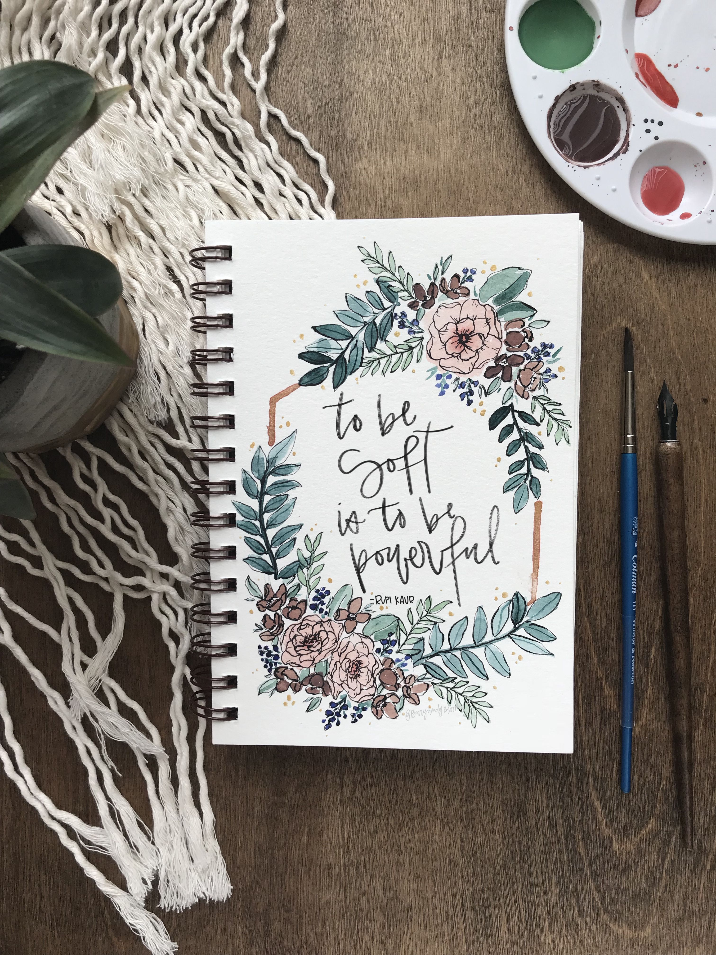 Watercolor Florals With Rupi Kaur Poetry Instagram