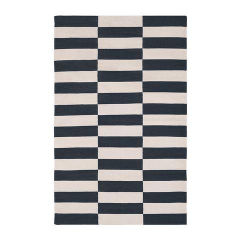 Black & White Buche Cotton Carpet | MADELINE WEINRIB - 1