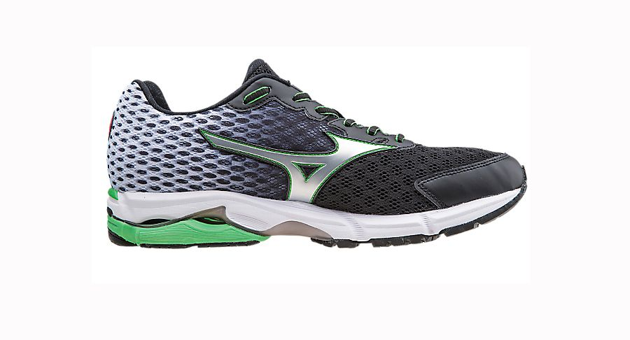 Women Shoes Neutral Black/Silver/Florida Keys Mizuno Wave Rider 18 Running Shoes