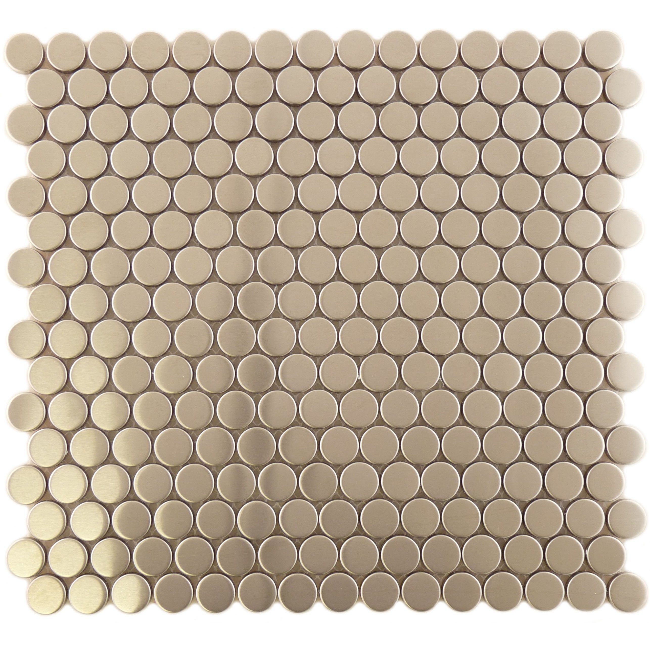 Sheet Size 11 3 X2f 8 Quot X 12 Quot Tile Size 8 X 20 Mm Diameter Tiles Per Sheet 240 Tile Metal Tile Backsplash Tiles Stainless Steel Tile