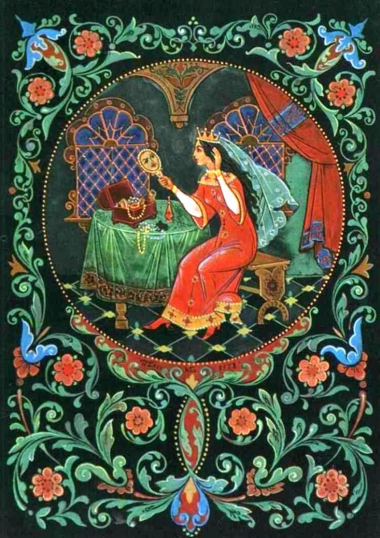 Надписью, открытки палеха по сказкам пушкина