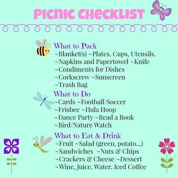 Picnic Checklist- Your FREE Printable #familypicnicfoods