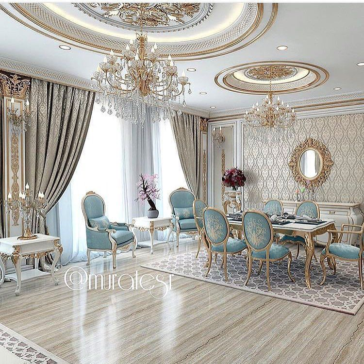 Best Blue And Gold Dining Room With Images Gold Dining Room 400 x 300