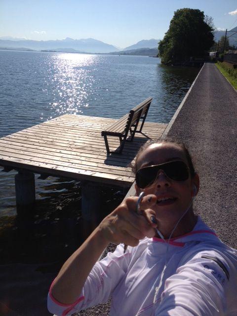 Meine Joggingstrecke am Zürichsee...